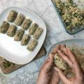Croquetas veganas de tofu y espinacas